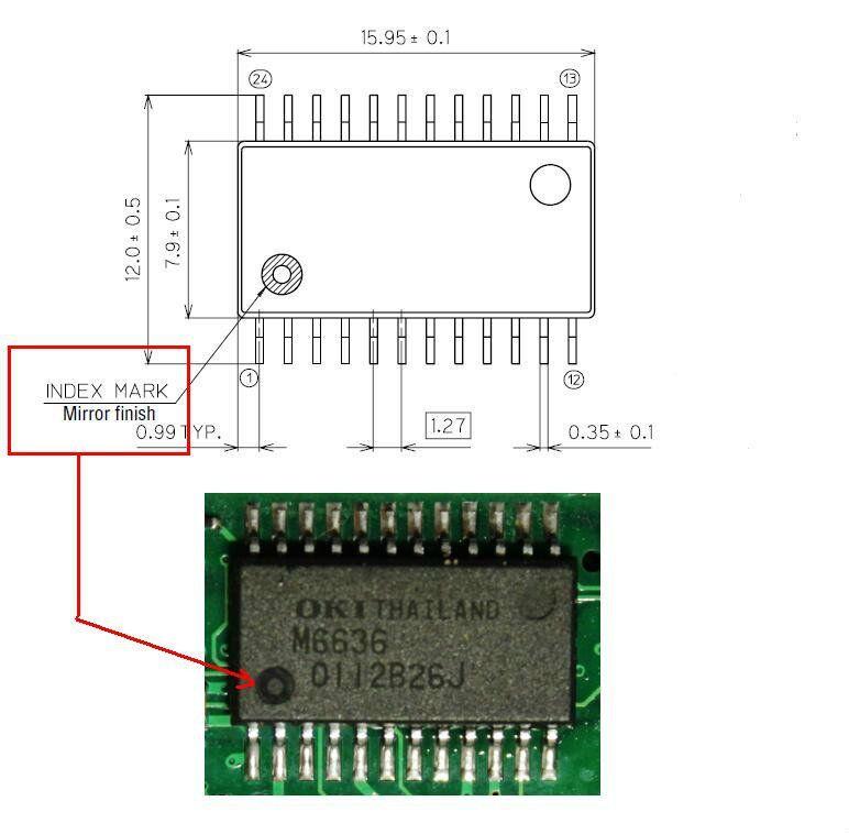 Микросхема OKI M6636